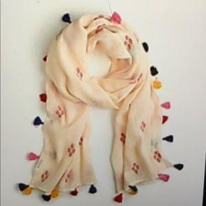 J. Crew Cotton tassel scarf wrap shawl